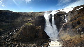 Iceland waterfall at a day stock video footage