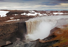 Iceland waterfall - Dettifoss Royalty Free Stock Images