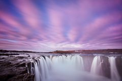 Iceland waterfall Dettifoss in Iceland nature landscape. Famous tourist attractions and landmarks destination in Icelandic nature