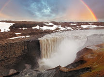Iceland waterfall - Dettifoss Stock Photography