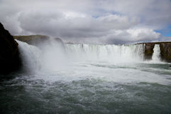 Iceland waterfall Godafoss Royalty Free Stock Images