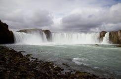 Iceland waterfall Godafoss Stock Images
