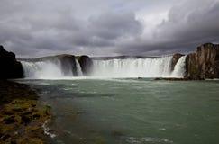 Iceland waterfall Godafoss Royalty Free Stock Photo