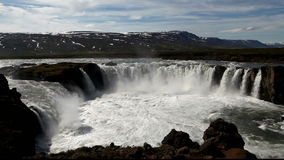 Iceland waterfall - Godafoss stock footage
