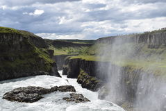 Iceland Waterfall Gullfoss Royalty Free Stock Photo