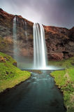 Iceland waterfall - Seljalandsfoss Royalty Free Stock Photography