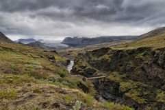 Iceland wild landscape Royalty Free Stock Photo