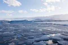 Iceland winter Jakulsarlon lake Stock Photo