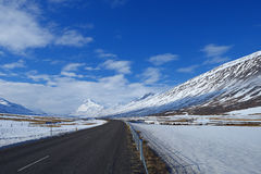 Iceland winter road Royalty Free Stock Photography