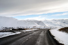 Iceland winter roads Stock Images