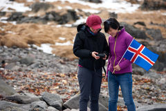 Iceland winter tourists Stock Photography