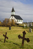 Iceland - Wooden Church - Thingvellar royalty free stock photo