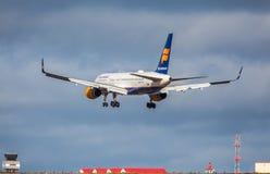 Icelandair Jet Aircraft Photos libres de droits
