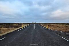 Icelandic дорога Стоковое Изображение RF