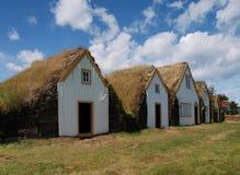 Icelandic традиционные дома дерновины Стоковые Изображения