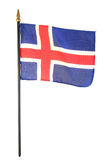 icelandic флага Стоковая Фотография