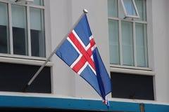 Icelandic флаг Стоковые Изображения