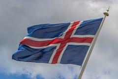 Icelandic флаг Стоковое Изображение RF