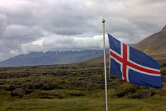 Icelandic флаг Стоковые Фото