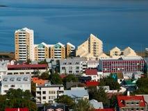 Icelandic architecture. Modern buildings in Reykjavik (Iceland Royalty Free Stock Image