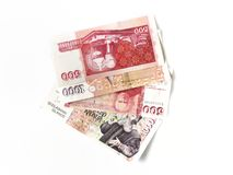 Icelandic Bank Notes. A selection of Krona bank notes from Iceland Stock Photo