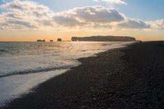 Icelandic black sand beach Royalty Free Stock Photos