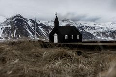 Icelandic Budir Church royalty free stock photos