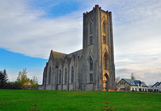 Icelandic church. Another famous church in Reykjavik, Iceland Stock Photography