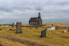 Icelandic Church in the middle of nowhere Stock Photography