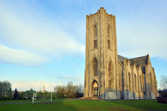 Icelandic church. In Reykjavik city Stock Photo