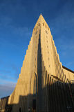 Icelandic church at sunset Royalty Free Stock Photography