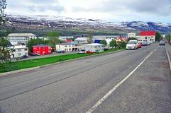 Icelandic City Street Stock Photo