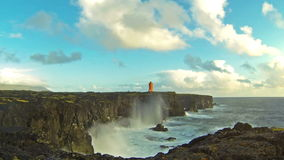 Icelandic coast stock footage