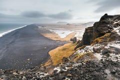 Icelandic coastal landscape. Rocky coast. Iceland Royalty Free Stock Photos