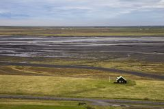 Icelandic countryside in Iceland royalty free stock photo