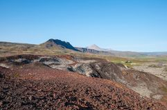 Icelandic Countryside landscape in Borgarfjordur Royalty Free Stock Photography