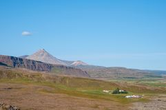 Icelandic Countryside landscape in Borgarfjordur Stock Photography