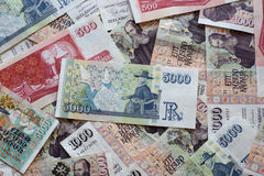 Icelandic Currency. Different Iceland Krona Banknotes closeup Royalty Free Stock Image