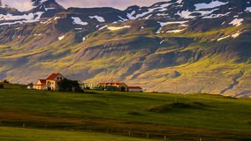 Icelandic farm. A farm alone in the eastern fjords of Iceland Stock Image