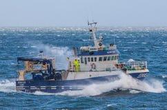 Icelandic Fishing Trawler. Image of an Icelandic offshore commercial fishing trawler Royalty Free Stock Photos