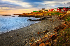 Icelandic fishing village Royalty Free Stock Photo