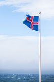 Icelandic Flag Stock Photography