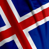 Icelandic Flag Closeup Royalty Free Stock Photo