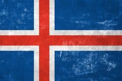 Icelandic Flag. Iceland - Icelandic Flag on Old Grunge Texture Background royalty free stock image