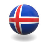 Icelandic flag Royalty Free Stock Images