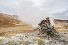 Icelandic Fumarole Royalty Free Stock Images