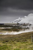 Icelandic geothermal power station Stock Image