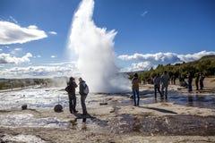 Icelandic Geyser Stock Images