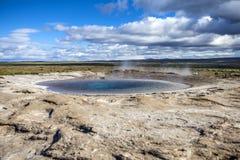 Icelandic Geyser Stock Photography