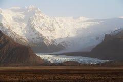 Icelandic glacier. In dusty day Royalty Free Stock Photo